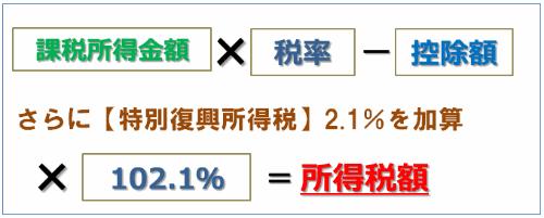 特別復興所得税が2.1%加算される